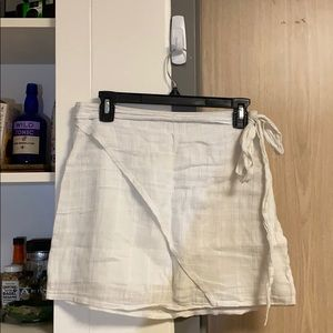 LF White Wrap Skirt